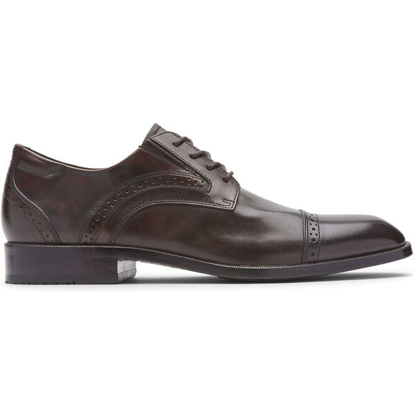 Total Motion Office Cap Toe, Dark Brown, hi-res