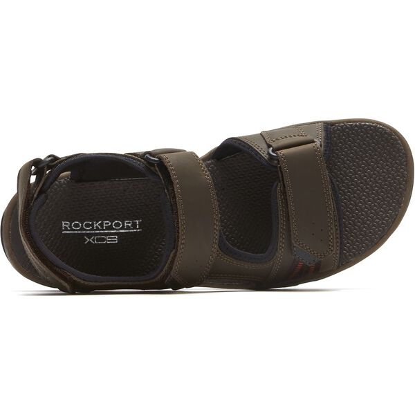 Trail Technique 3 Strap Sandal, Brown Sde, hi-res