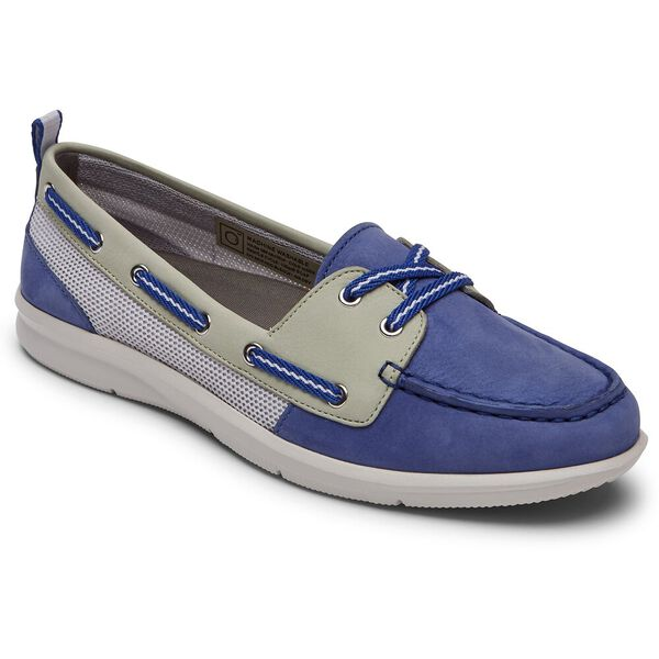 Ayva Washable Boat Shoe, Blue/Mint, hi-res