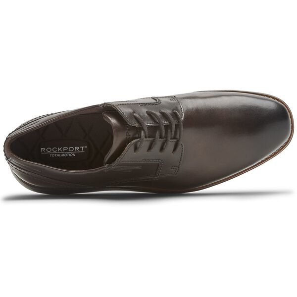 Total Motion Sport Dress 4-Eye Plain Toe, Brown Sde, hi-res