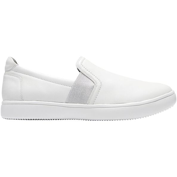 Ariell Gore Leather Slip On, White, hi-res
